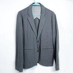 FOLK Gray Cotton Two Button Blazer